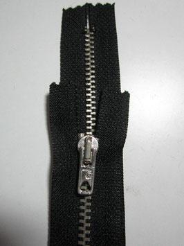 1 Stück Metall Reißverschluß von R 30 cm Farbe : Schwarz