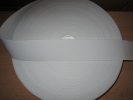(1,20 €/Meter)  50 mm Breit Gummiband weiß 6 Meter