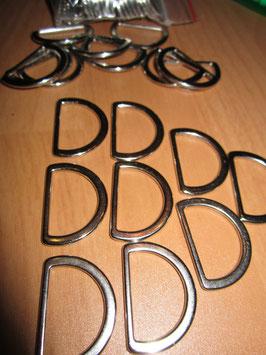 (0,20 € / Stück)  40 x D Ringe