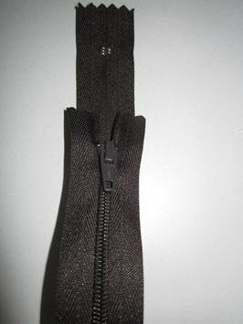 (1,90 € / Stück)   2 x Reißverschlüße für Hosen & Röcke von TSF Länge : 20 cm Dunkelbraun