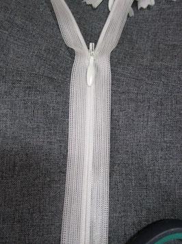 (2,60 € / Stück)   2 Verdeckte Reißverschlüsse Cremweiß Länge : 60 cm
