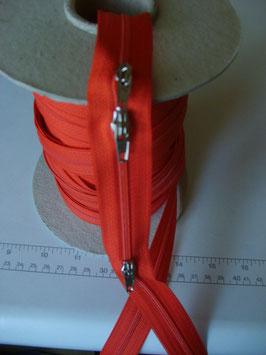 (1,80 € / m)   3 m Endlose Reißverschluss von Opti für Bettwäsche , Kissen usw Farbe rot
