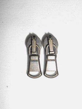 (2,00 € / Stück)   2 Schieber für Opti & Markenlose Metall Jacken Reißverschlüsse