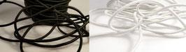 (2,50 €/Meter)   Gummikorde,Hutgummi,Gummilitze elastisch 50 m und 2 Farben zu Auswahl