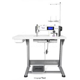 Industrienähmaschine TEXI TRONIC 6 NEO PREMIUM Schnellnäher Vollautomatik-Fadenabschneider geschloßenem Schmierlauf Bedienfeld im Kopf