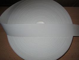 (0,62 €/Meter)  50 mm Breit Gummiband weiß 50 Meter