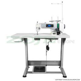 Industrienähmaschine ZOJE ZJ-A6000-G SET  Schnellnäher mit automatischer Nadelpositionierung, Servomotor Bedienfeld  im Kopf