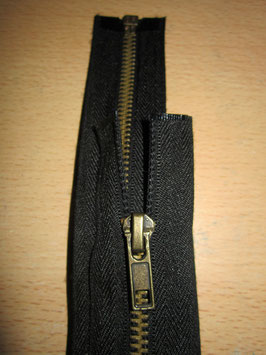 Teilbaren Metall Reißverschluß Länge : 70 cm Farbe : Schwarz