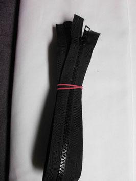Teilbaren 2 Wege Kunststoff Reißverschluß 90 cm Farbe : Schwarz