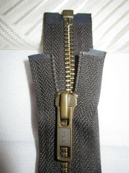 Teilbaren Metall Reißverschluß von YKK Farbe : Dunkelbraun 80 cm