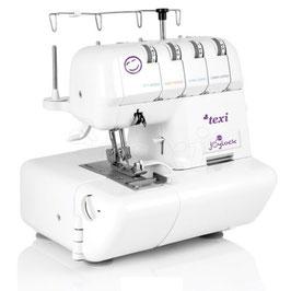 TEXI Overlock Nähmaschine 2/4 2, 3, 4-Faden für alle Stofftypen mit Tasche
