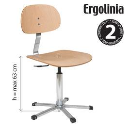 ERGOLINIA EVO4 Industrie-Drehstuhl (Schichtholzausführung) - Gasdruckfeder