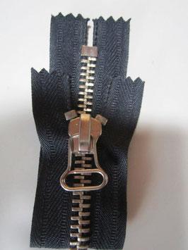 Metall Reißverschluß Stabile Grobe Z.für Lederhosen usw 15 cm Dunkelblau