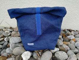 Lunchbag mittelgross Leinen blau