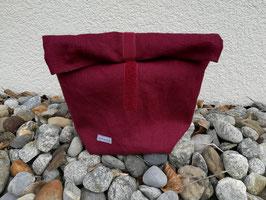 Lunchbag mittelgross Leinen bordeaux