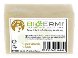 SAPONETTA MARSIGLIA BIOERMI - CARTONE DA 15 PEZZI DA 200 g