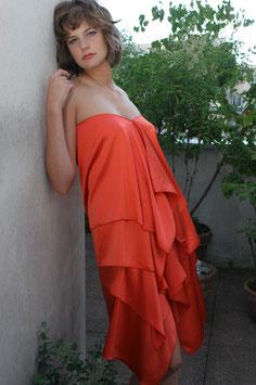 Robe Laura en deux morceaux orange