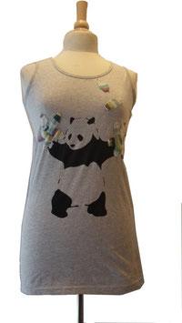 T-shirt panda à fleur