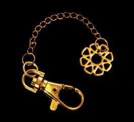 "Porte cléfs avec médaille "" mandalah"" en métal"