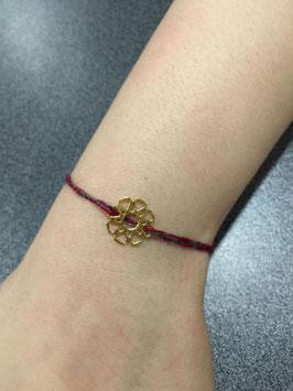 Bracelet porte bonheur en fil recyclé