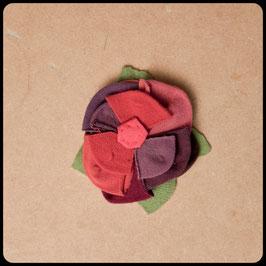 Broche/Pince à Cheveux Fleur Multicolore