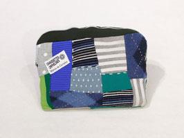 Housse patchwork bleu