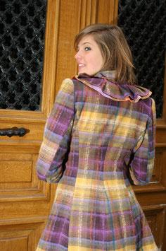Manteau à Carreaux Marron
