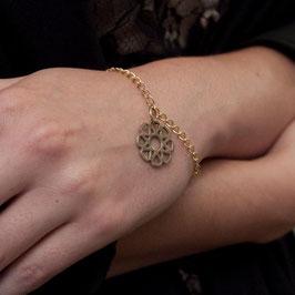 "Bracelet avec médaille "" mandalah"" en métail"