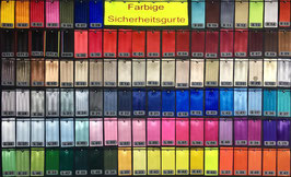 Farbmuster Sicherheitsgurtband