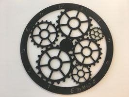 Horloge retro découpe laser