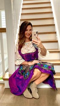 Dirndl Marie Antoinette in Purple