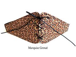 Ceinture végane corsetée léopard