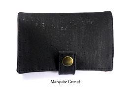 Portefeuille en liège de luxe noir
