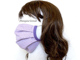 Masque alternatif en coton japonais Oeko-tex mauve