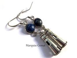 Boucles d'oreilles Ouessant lapis lazuli pendants phares