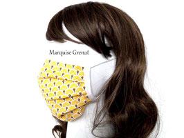 Masque adulte alternatif en coton éventails jaunes dorés