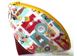 Trousse polyvalente imperméable estivale rouge multicolore