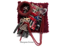 Love cats broche textile bohème
