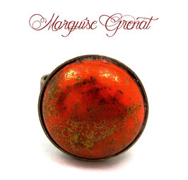 Bague ronde mandarine bronze ajustable