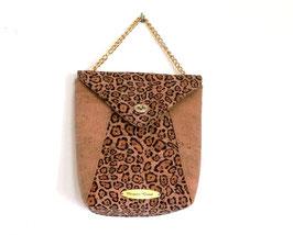 Sac à main en liège de luxe léopard et naturel