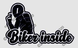 """Aufkleber """"Biker inside"""", BxH (mm) 200x123"""