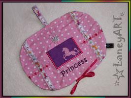 "Haarspangen-Hängeutensilo ""Princess Pferde Rosa-Lila"""