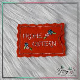 """Gutscheinhülle/ Geldhülle - Motiv: Blümchen & """"FROHE OSTERN"""""""
