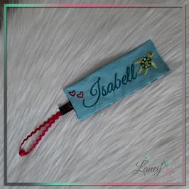 """Lesezeichen """"Schildkröte & NAME"""" Wunschstoff - Design: Isabell"""