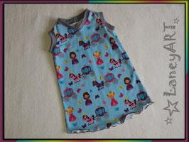 "Kleid Jersey ""Princess Blau - Grau"""
