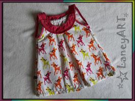 """Kleid Baumwolle """"Rehe Pink-Orange-Grün"""""""
