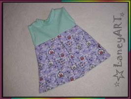 """Kleid Jersey """"Eulen Lila - Mint"""""""
