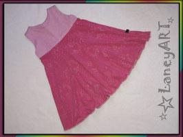 """Kleid Jersey """"Glitzer-Schleifen Pink-Rosa"""""""