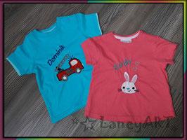 """WUNSCH-Kinder-Shirt """"NAME & Motiv"""""""