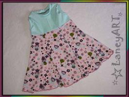 """Kleid Jersey """"Feen & Frösche Rosa-Mint"""""""